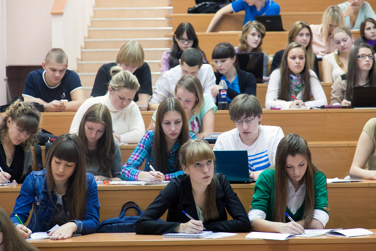 Students at the Siberian Federal University.