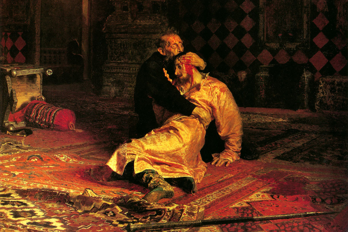 Ivan the Terrible and His Son Ivan (on November 16, 1581), 1885. More often than not, this historical event is simply called Ivan the Terrible Kills His Son. The painting, depicting this tragic incident, was banned by Tsar Alexander III, and Tretyakov placed the canvas in a separate private room, where he presented it to selected guests only.