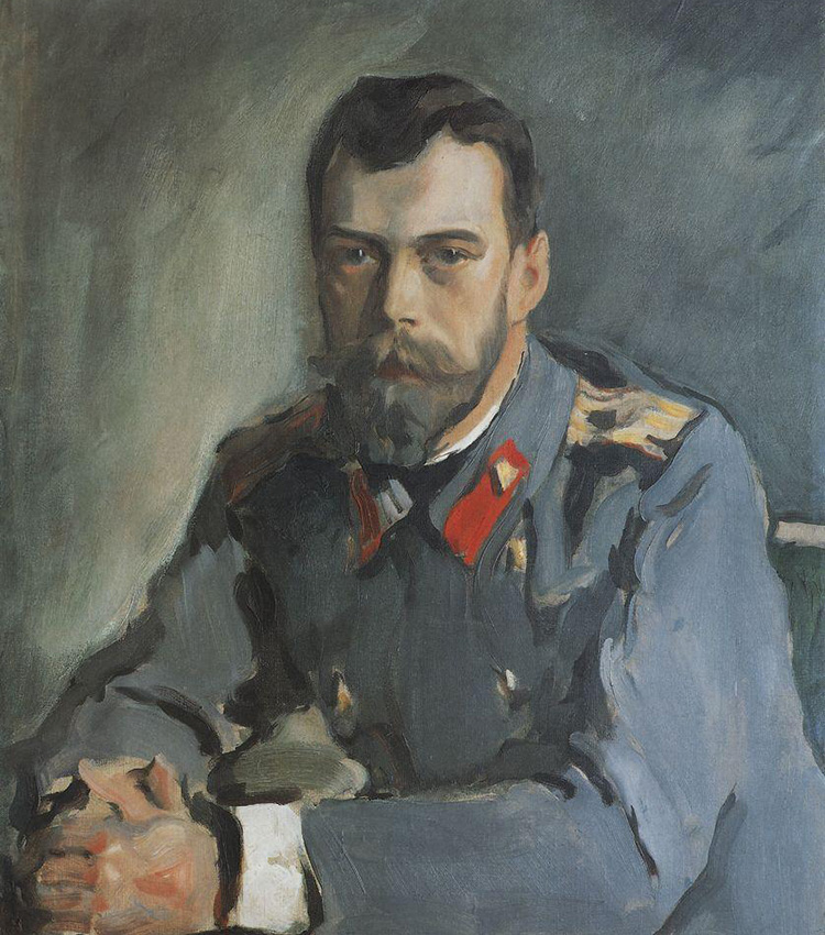Portrait of Nicholas II, 1900. Serov's formal portraits of the late 19th century did not feature banal poses or static heroic postures: on canvas his models did not turn into ceremonial depictions, but remained themselves. His portrait of Nicholas Romanov is one of the finest portraits of the last Russian emperor.