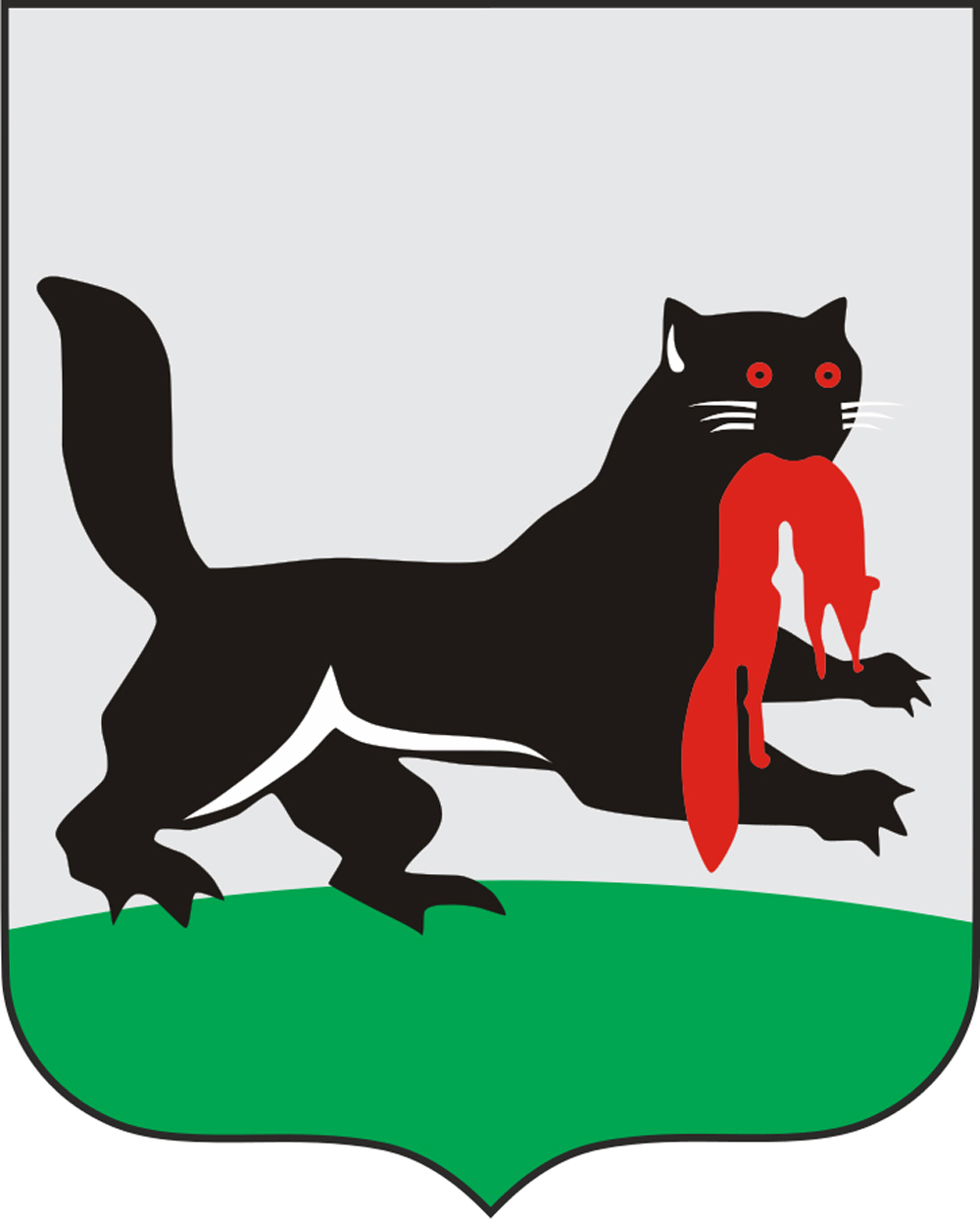 Grb Irkutska (Sibir, 4 200 km istočno od Moskve).