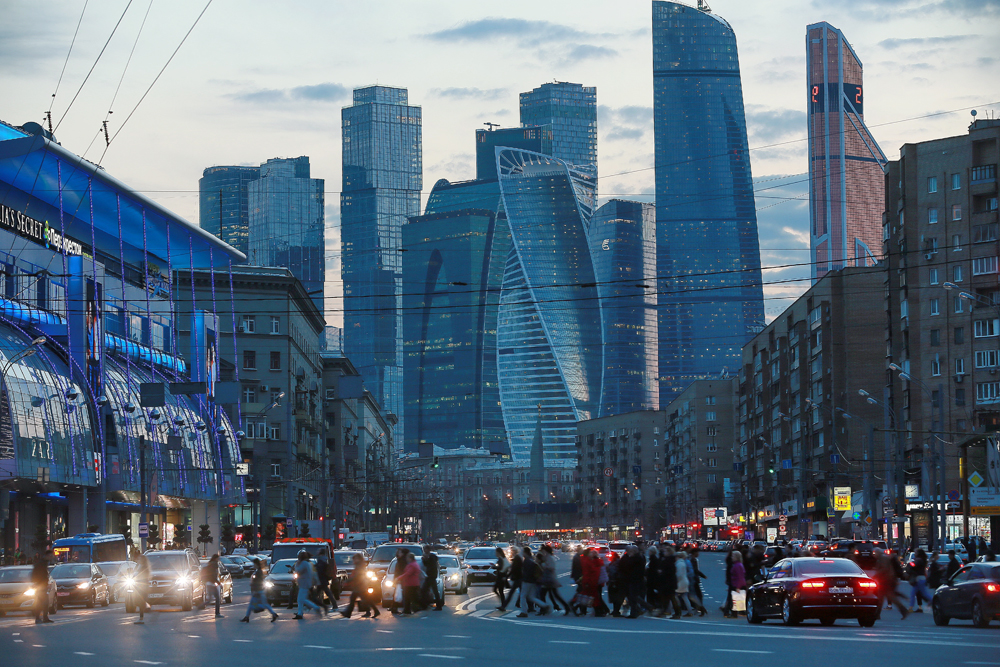 Le centre d'affaires Moscow City, Moscou.