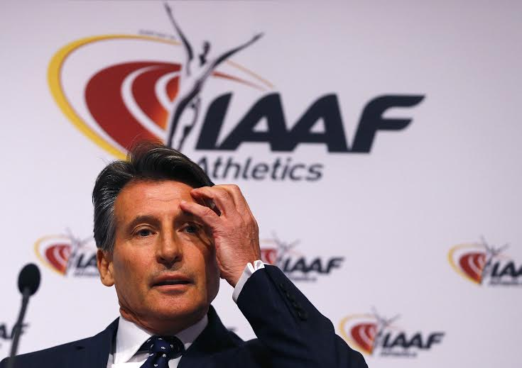 IAAF President Sebastian Coe attends a news conference after the International Association of Athletics Federations (IAAF) council meeting in Vienna, Austria, June 17, 2016.
