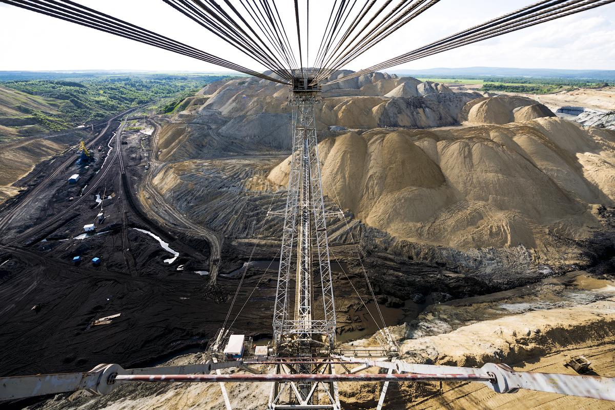La miniera di carbone di Nazarovksij, situata vicino a Krasnoyarsk, la città più grande nell'est della Siberia, è uno dei più grandi giacimenti del bacino di Kansk-Achinsk