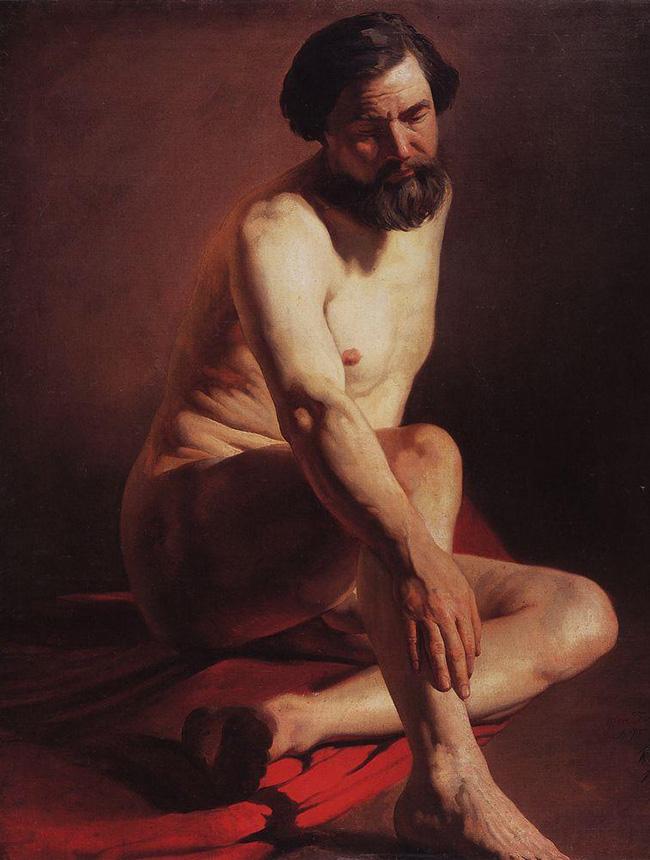 Konstantin Makovskij, Modello, 1858