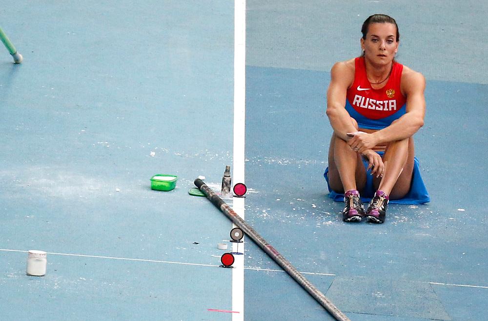 Јелена Исинбајева. Москва, 11. август 2013.