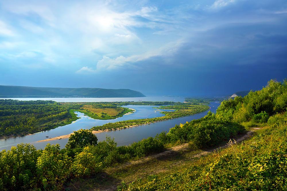 The Volga River on Samara