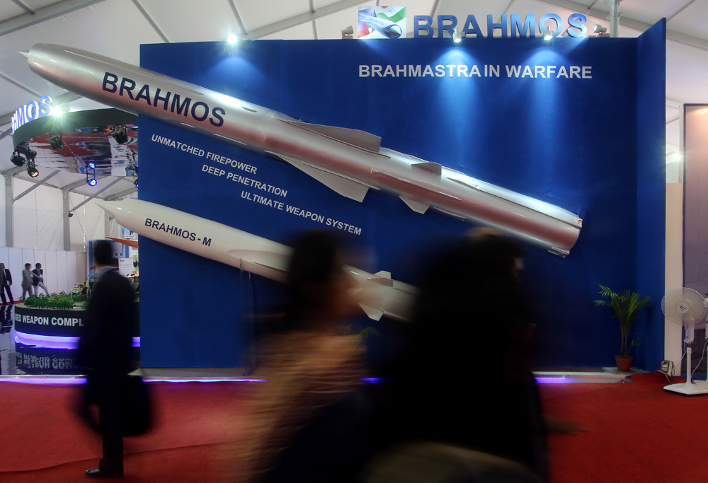 BrahMos is capable of hitting targets beyond the radar horizon and can be launched from sea based and land based weapon systems.