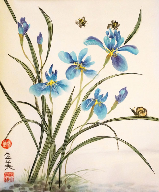 Classical Chinese painting does not just comprise of the brush technique and line drawing; it also focuses on stylized expressions of shade and texture.