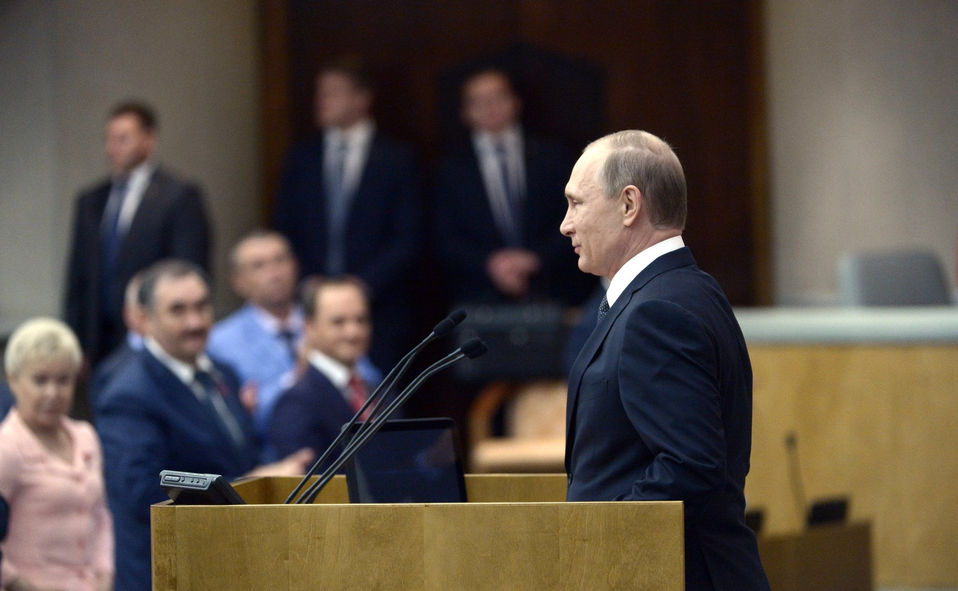 Russian President Vladimir Putin at the State Duma, June 22, 2016.