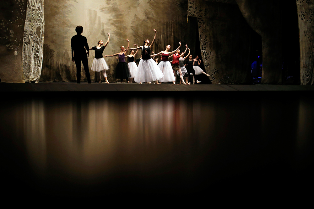 Bolshoi dancers hold a rehearsal of the ballet Giselle in the Bolshoi Theater in Moscow, Russia.