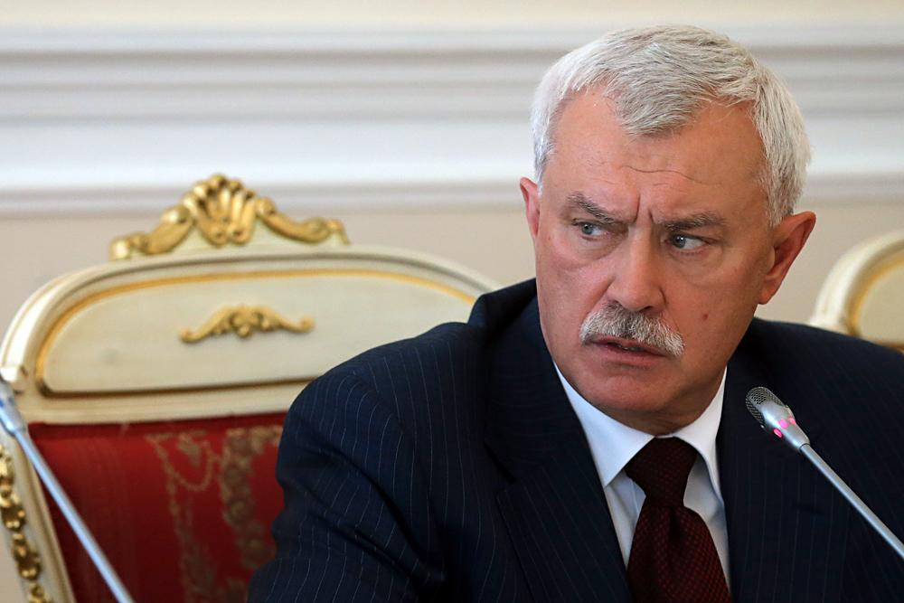 Gueorgui PoltavtchenkonAu KGB : de 1979 à 1994,  directeur du service de la sécurité dans les transports.nAprès : gouverneur de Saint-Pétersbourg.n