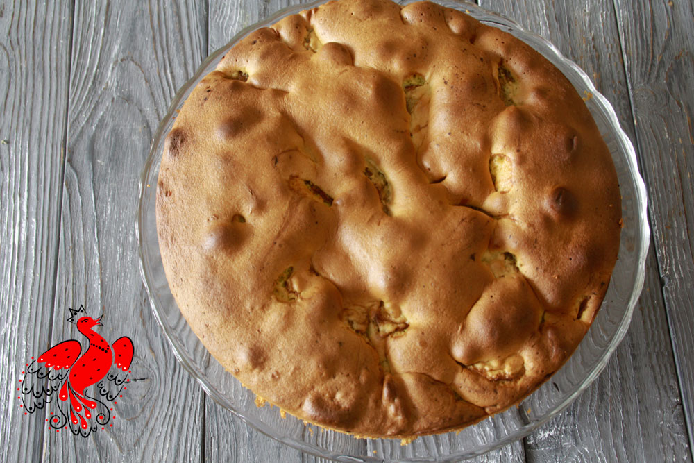 Russian Oven: Sharlotka apple pie