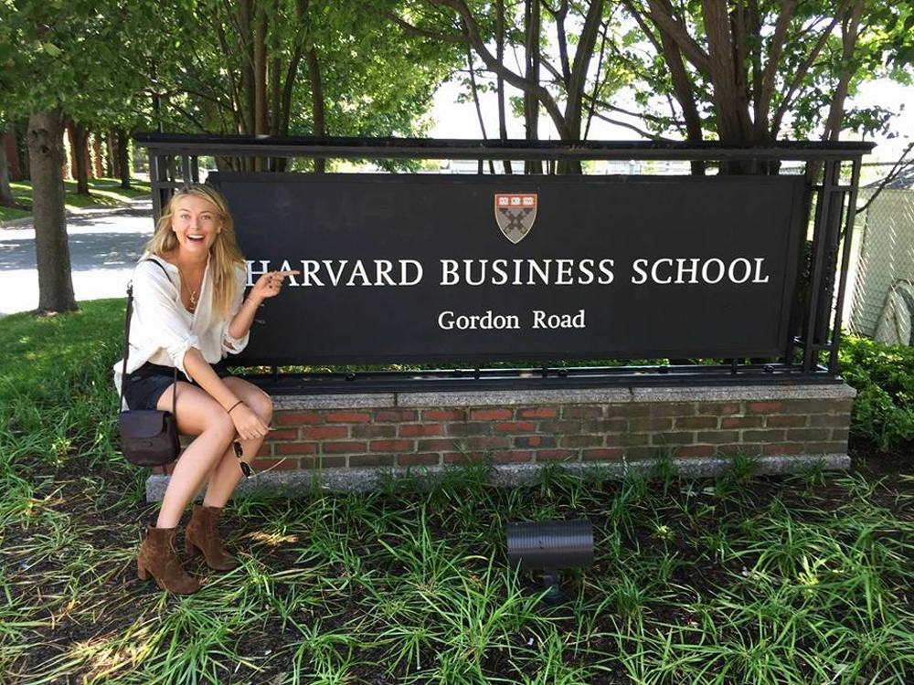 Sharapova HArvard