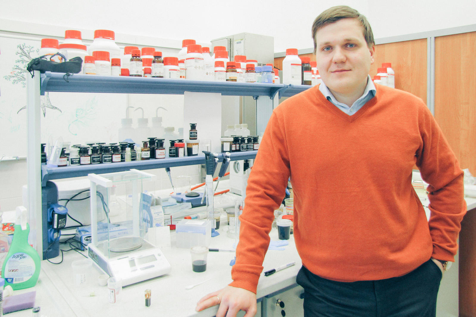 Vladimir Vinogradov, head of the Laboratory of Solution Chemistry of Advanced Materials and Technologies, ITMO. Source: Press photo