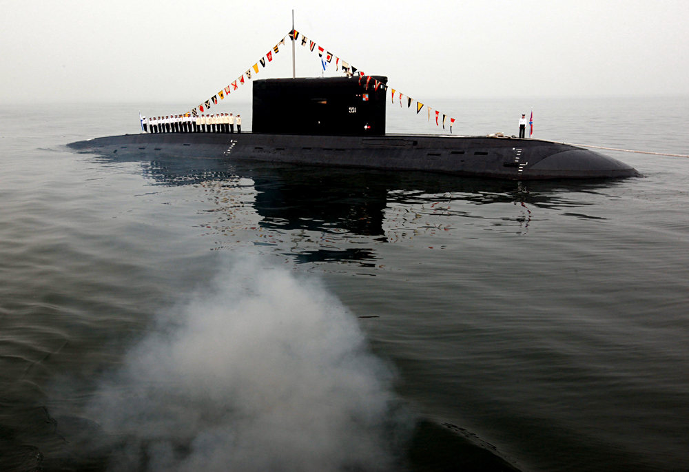 Un submarino diesel Varshavianka.