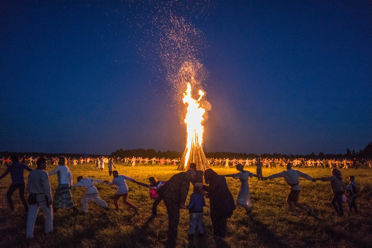 Both summer solstices include numerous Slavic rituals uniting fire and water. It is celebrated in Russia, Belarus, Poland, Lithuania, Latvia and Ukraine during days of the summer solstice.
