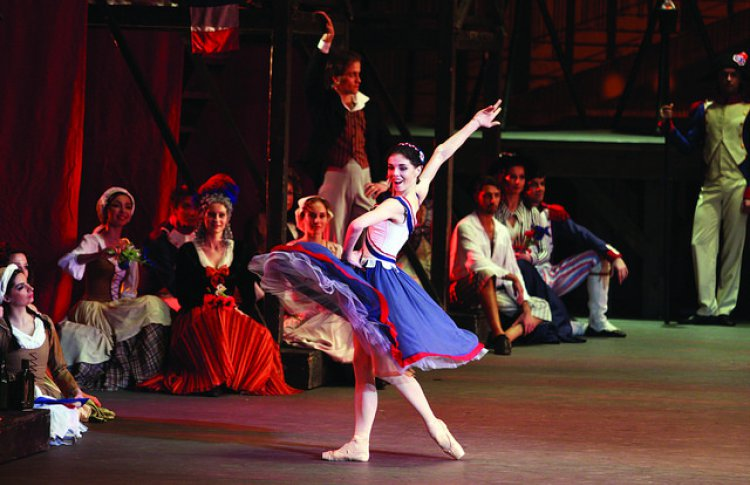 "Natalia Osipova in ""The Flames of Paris."""