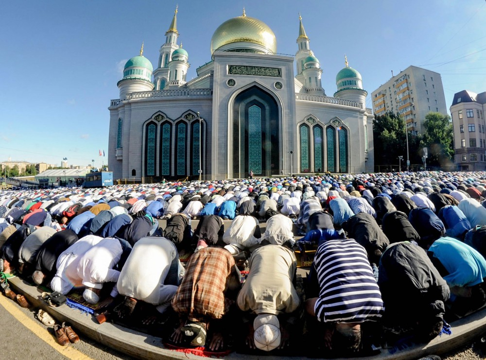 In nine of Russia's regions the day has been declared a public holiday since it is forbidden for Muslims to work on this day.