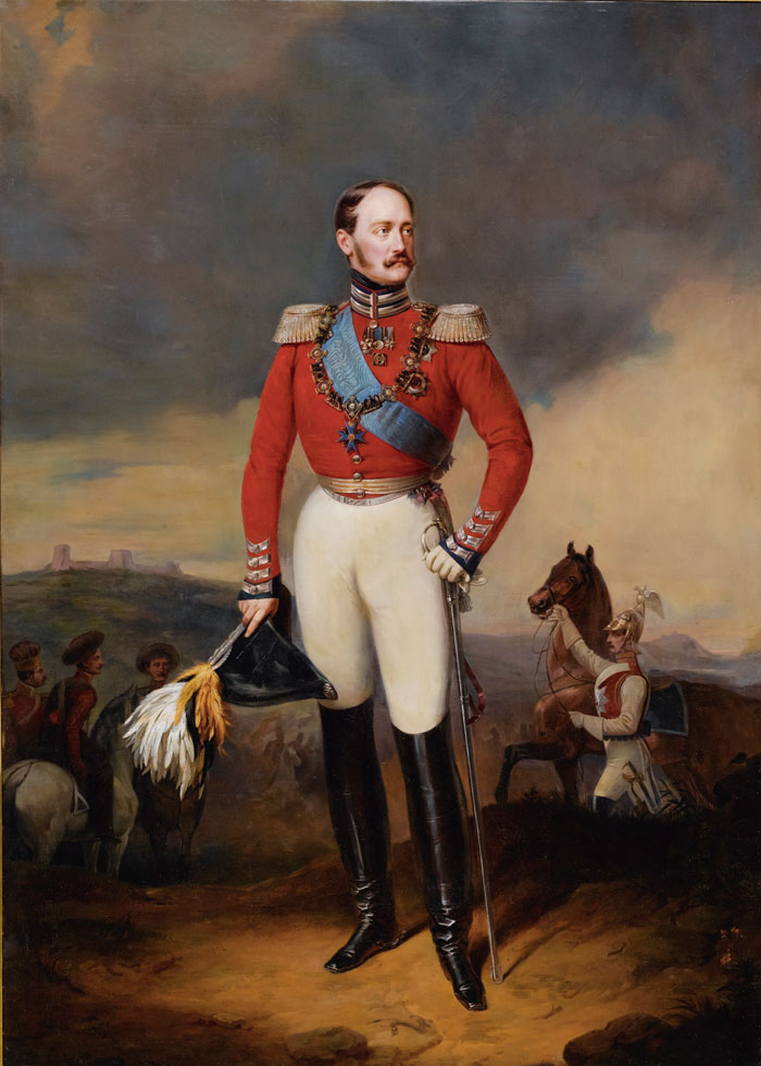 Some believe that the defeat in the Crimean War led to Nicholas I's sudden death in March 1855 at age 58. // A portrait by Franz Krüger