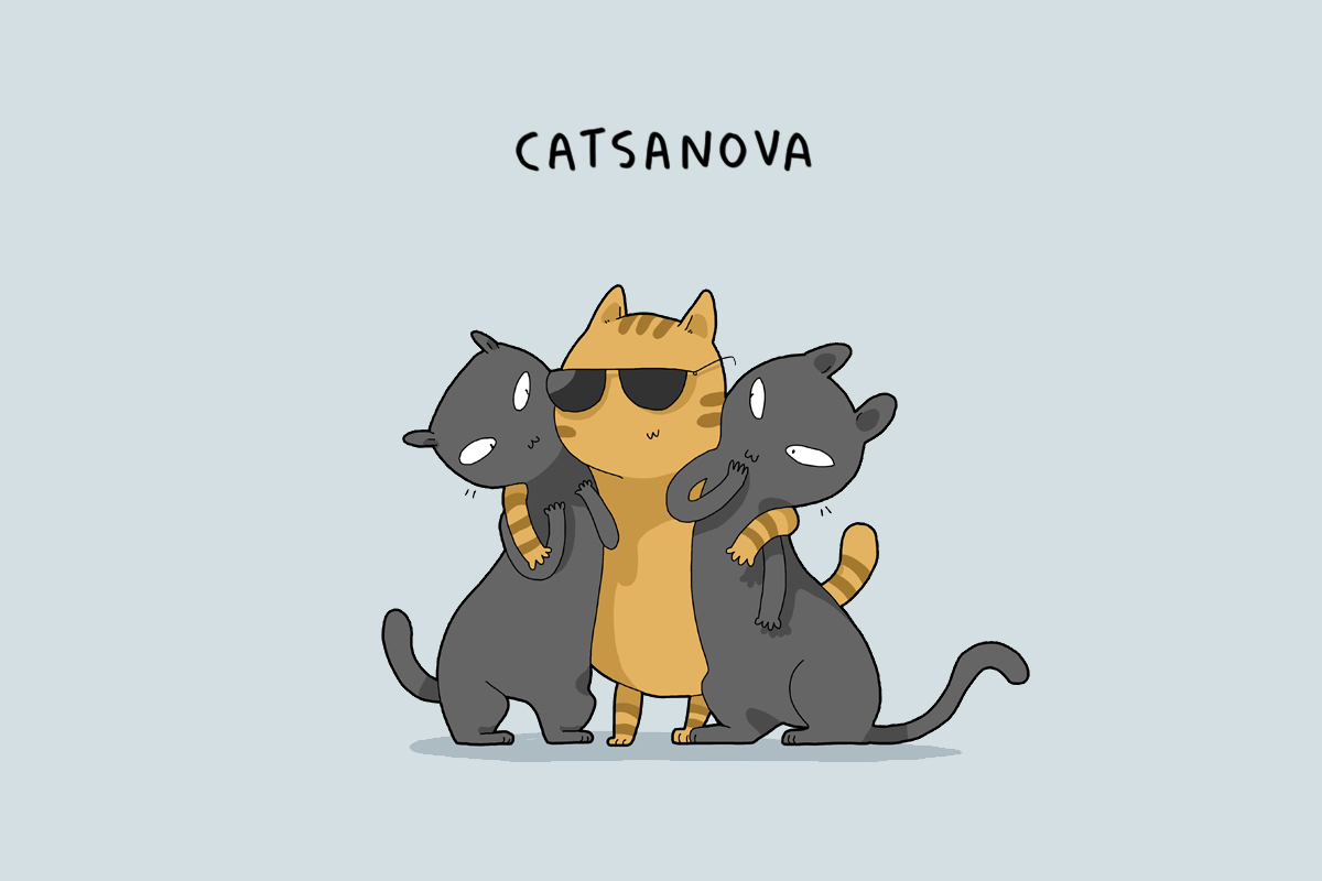 Types Of Cat Characters In Ironic Illustrations Russia Beyond - Ironic illustrations
