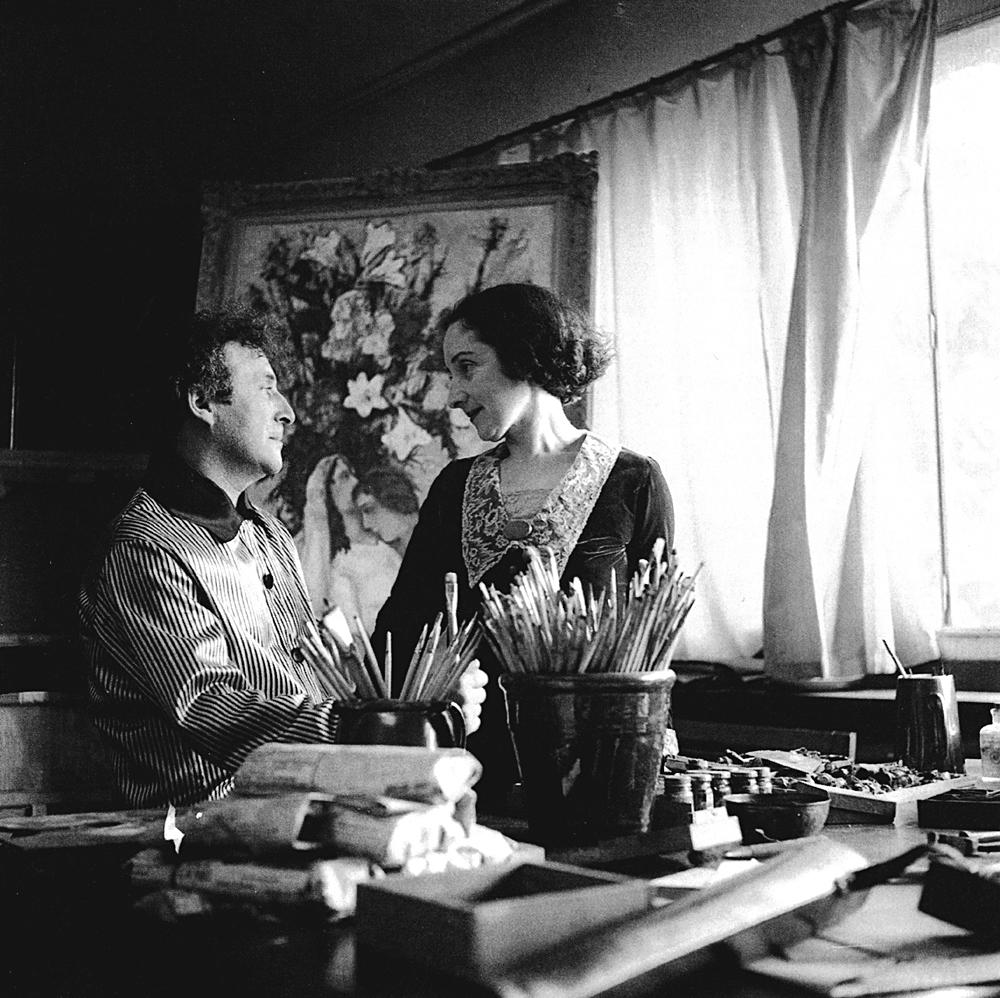 マルク・シャガールベラとベラ・シャガール、1934年、パリ=Getty Images