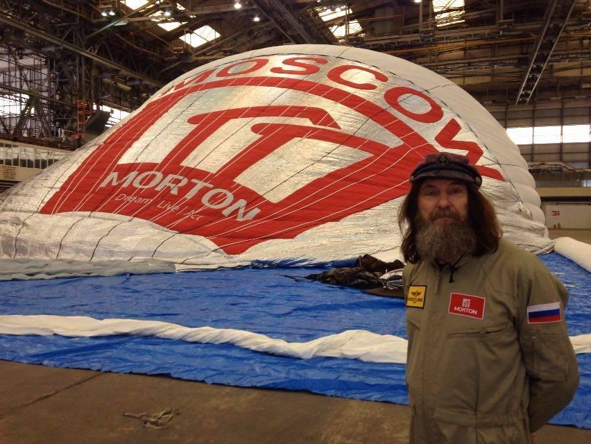 Kôniukhov divulgou foto antes de partir com seu balão, na Austrália