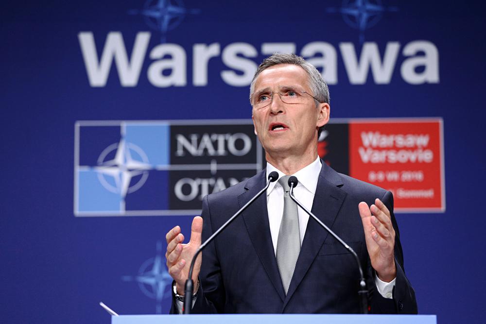 Secretário-geral da Otan, Jens Stoltenberg, durante recente cúpula em Varsóvia