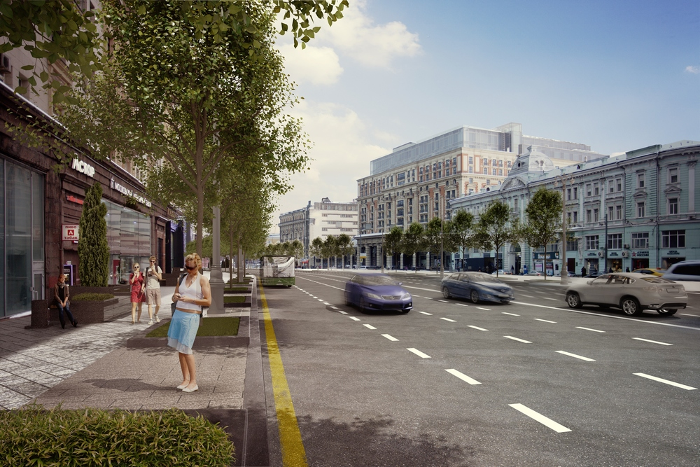 The main proposal is to restore a lime tree alley that adorned Tverskaya from the late 1940s to the 1990s.