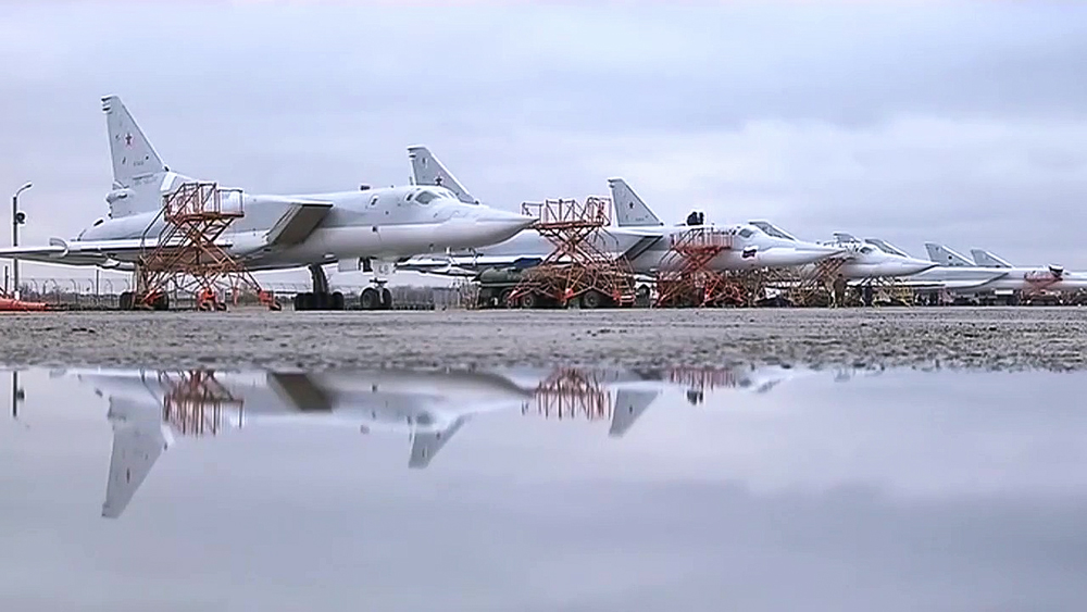 Tupolev Tu-22 M3 strategic bombers of the Russian Aerospace Force prepare to hit ISIS targets in Syria.