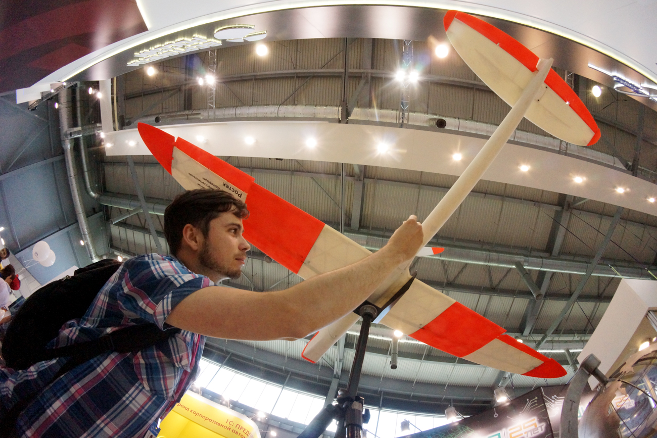 The unmanned aerial vehicle was unveiled at the International Trade Fair INNOPROM 2016 in Yekaterinburg in the Urals.