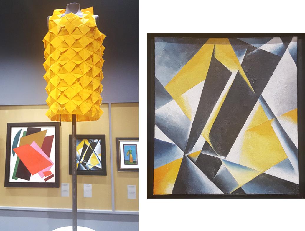 La exposición está abierta al público hasta el 4 de septiembre de 2016, en el Museo Judío y el Centro de Tolerancia (Moscú, la calle Obraztsova, 11/1A).  / Junya Watanabe, primavera-verano de 2015; Liubov Popova, 1918.