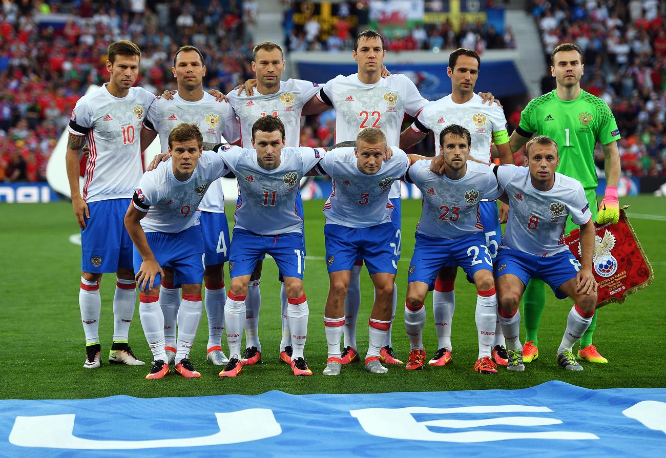 Tim nasional sepak bola Rusia.