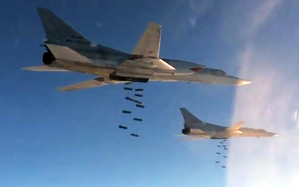 Six long-range Tu-22M3 bombers of Russia's Aerospace Forces used high-explosive ammunition to hit terrorist facilities in Syria in the morning of July 12.