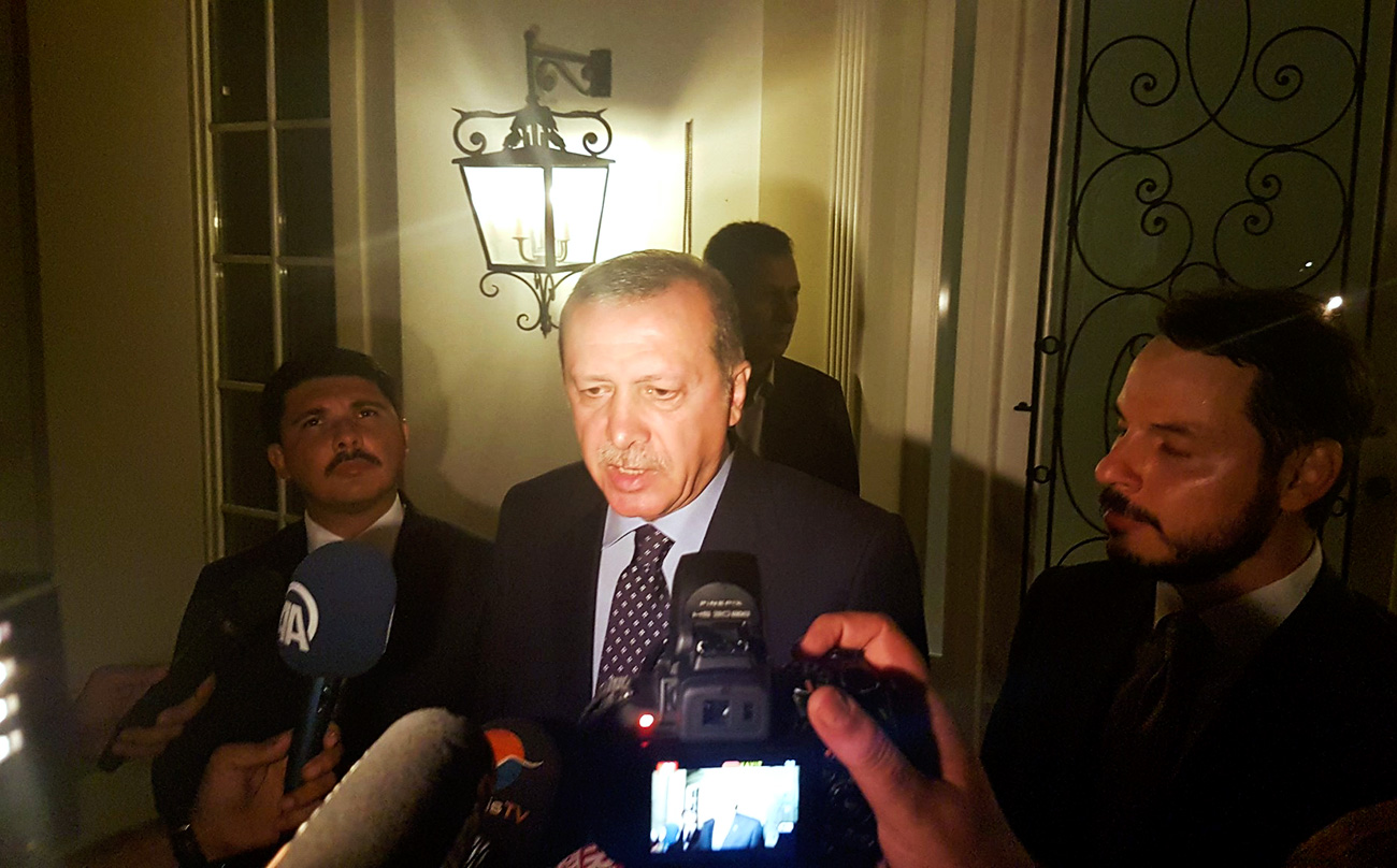 Il Presidente turco Erdogan.