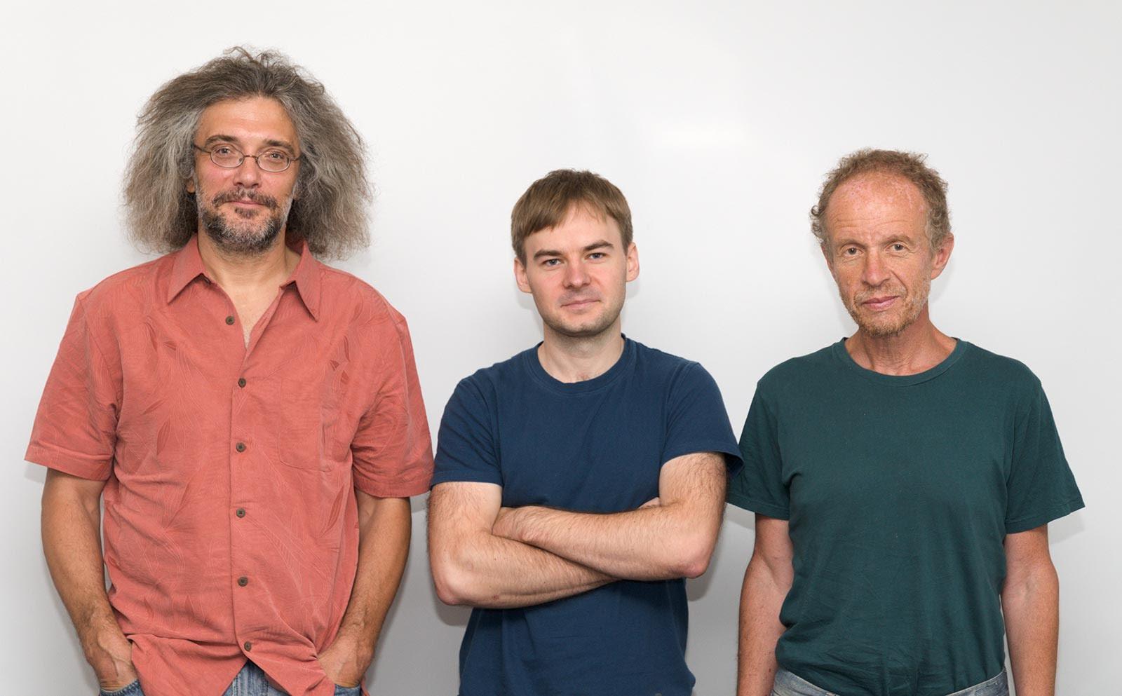 Konstantin Severinov (left), Sergey Shmakov (center), Yevgeny Kunin.
