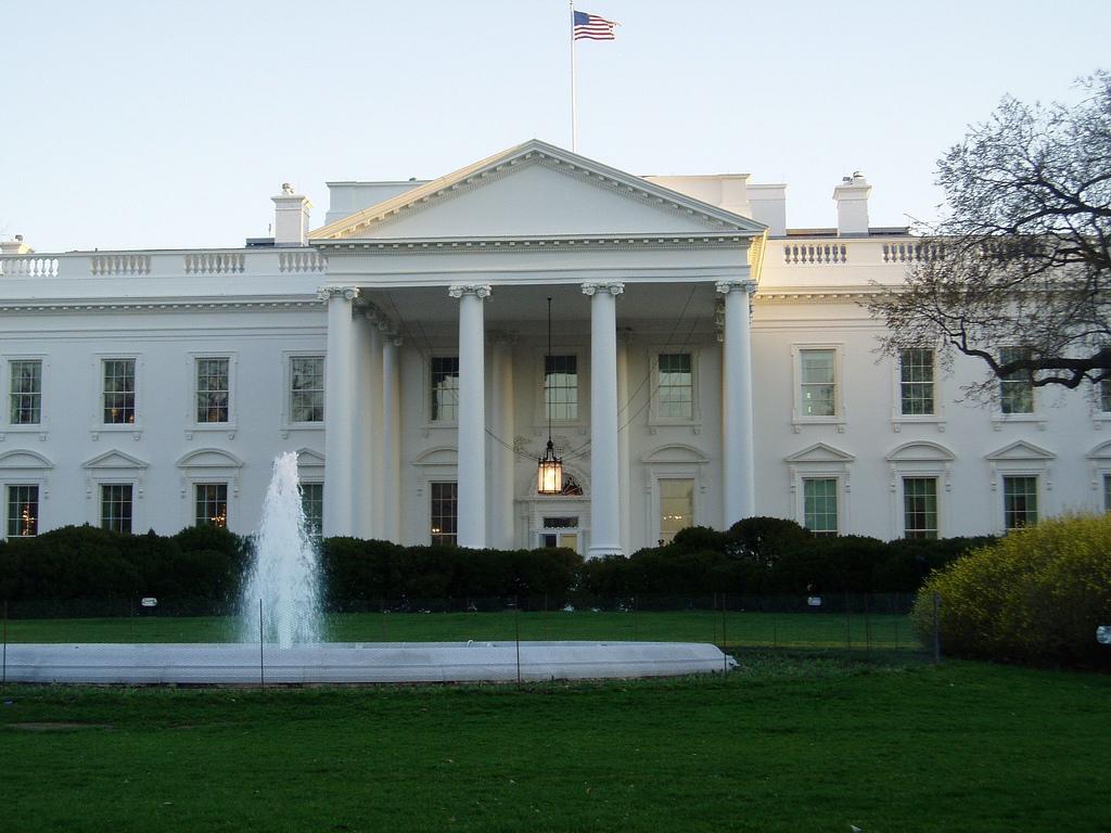 Белата куќа во Вашингтон.