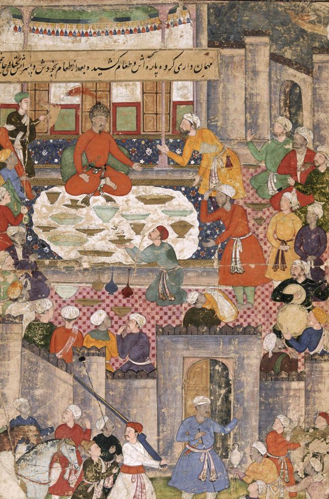 В музее есть свой собственный набор редких картин Бабурнамы (мемуары могольского императора Бабура).