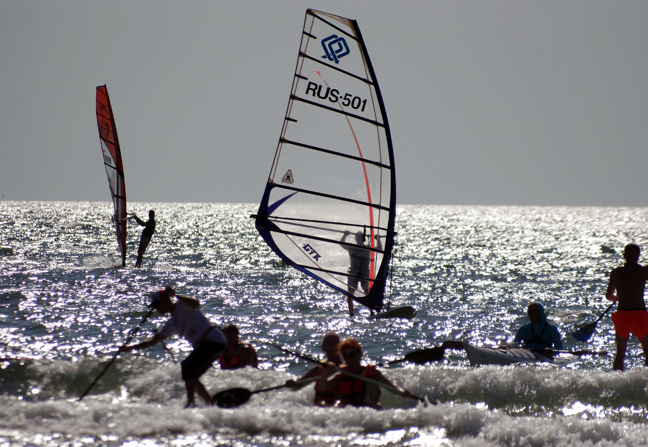 Participants in the 4th Extreme Crimea international extreme sports festival on Cape Tarkhankut