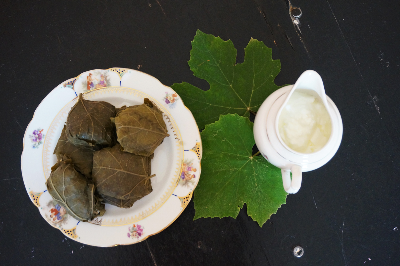 Grape leaves are essential when making dolma.