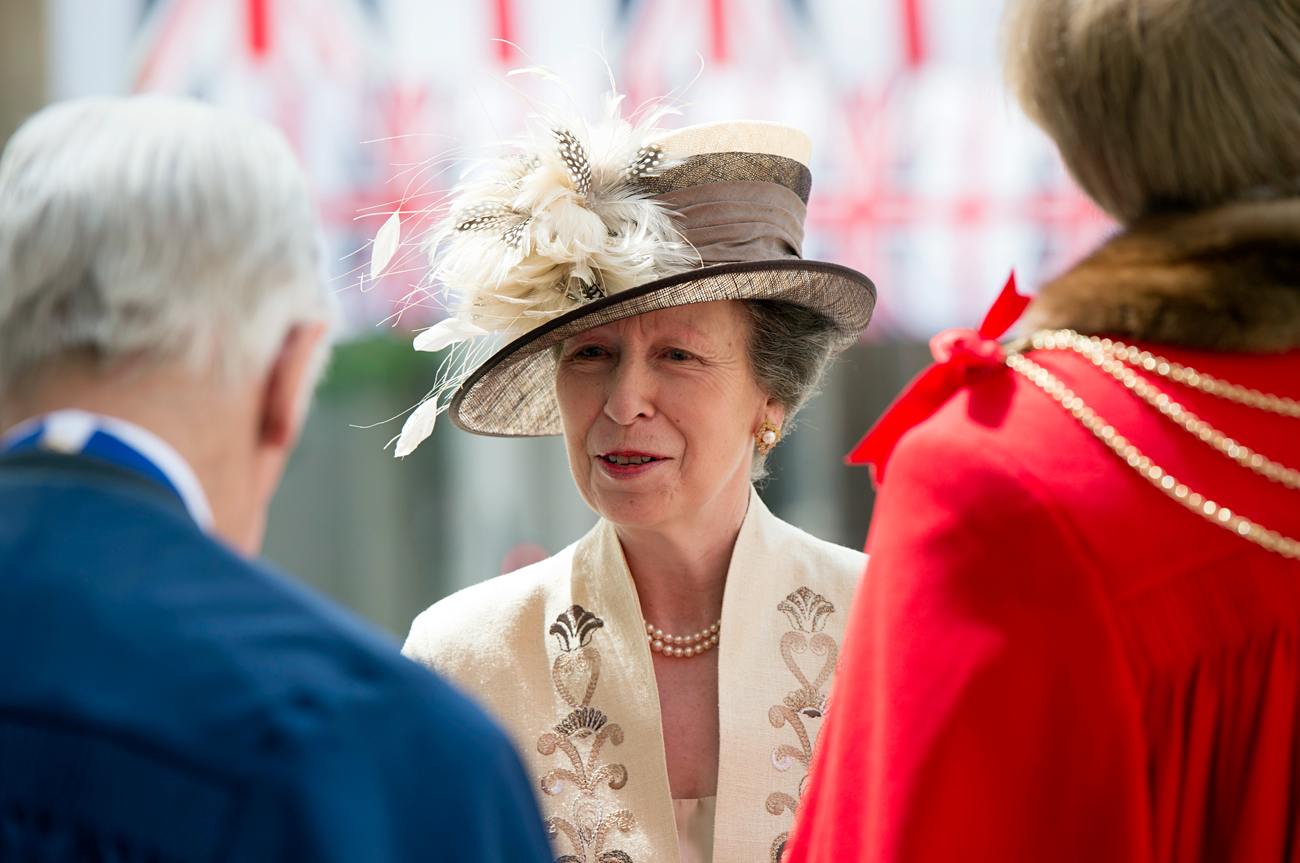 Britain's Princess Anne at the 90th birthday of Britain's Queen Elizabeth II on June 10, 2016.