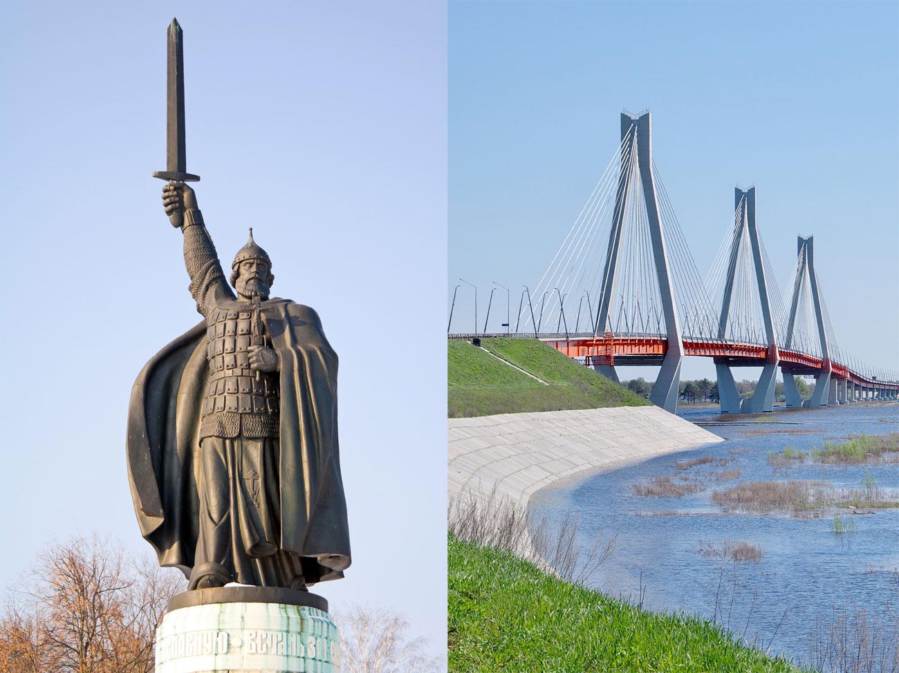 Някои малки градове също участват в надпреварата. Например древното малко градче Муром, родното място на славянския епичен герой Иля Муромец. Днешен Муром привлича посетители със своя паметник на легендарния богатир Муромец, но и с модерния Муромски мост.