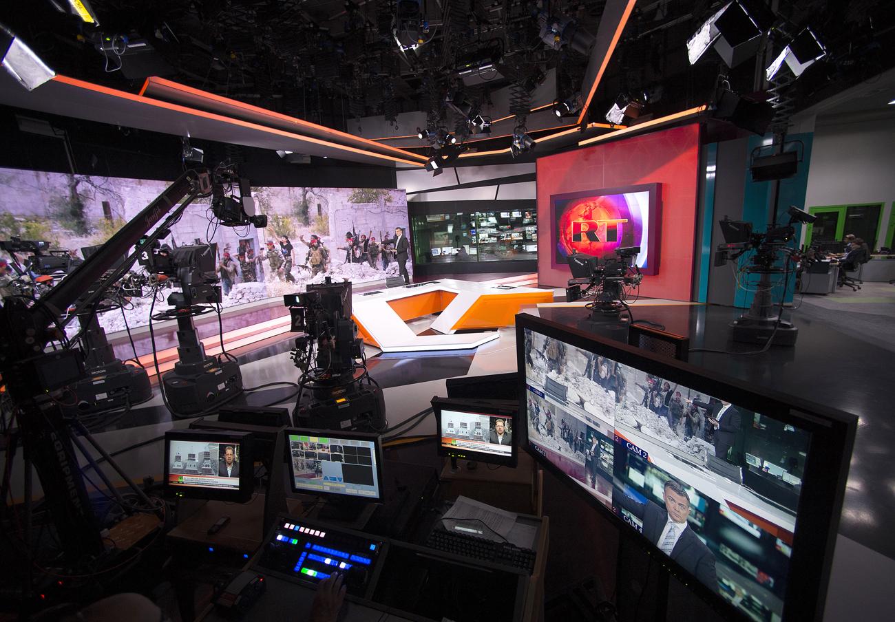 Ruang redaksi Russia Today.