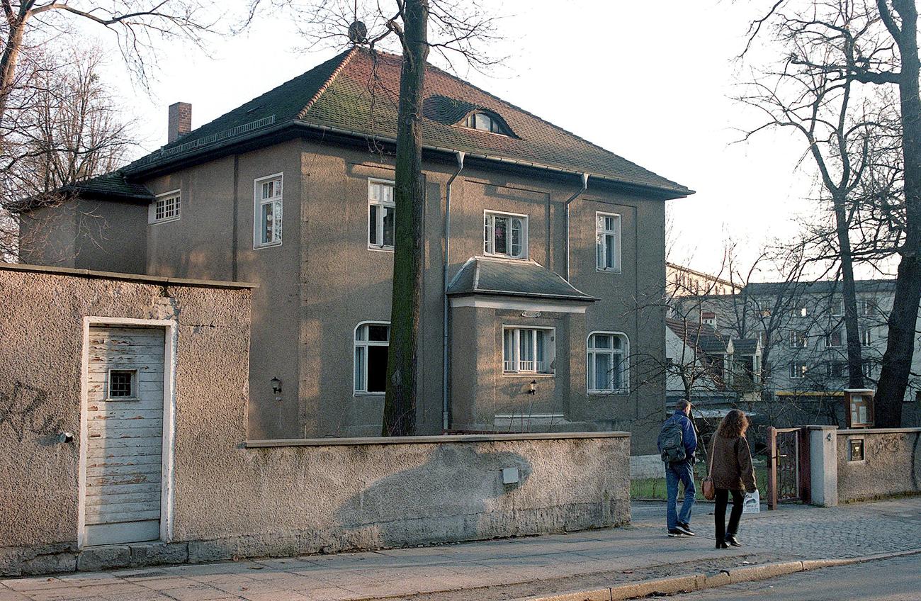 Бившата сграда на КГБ в Дрезден.