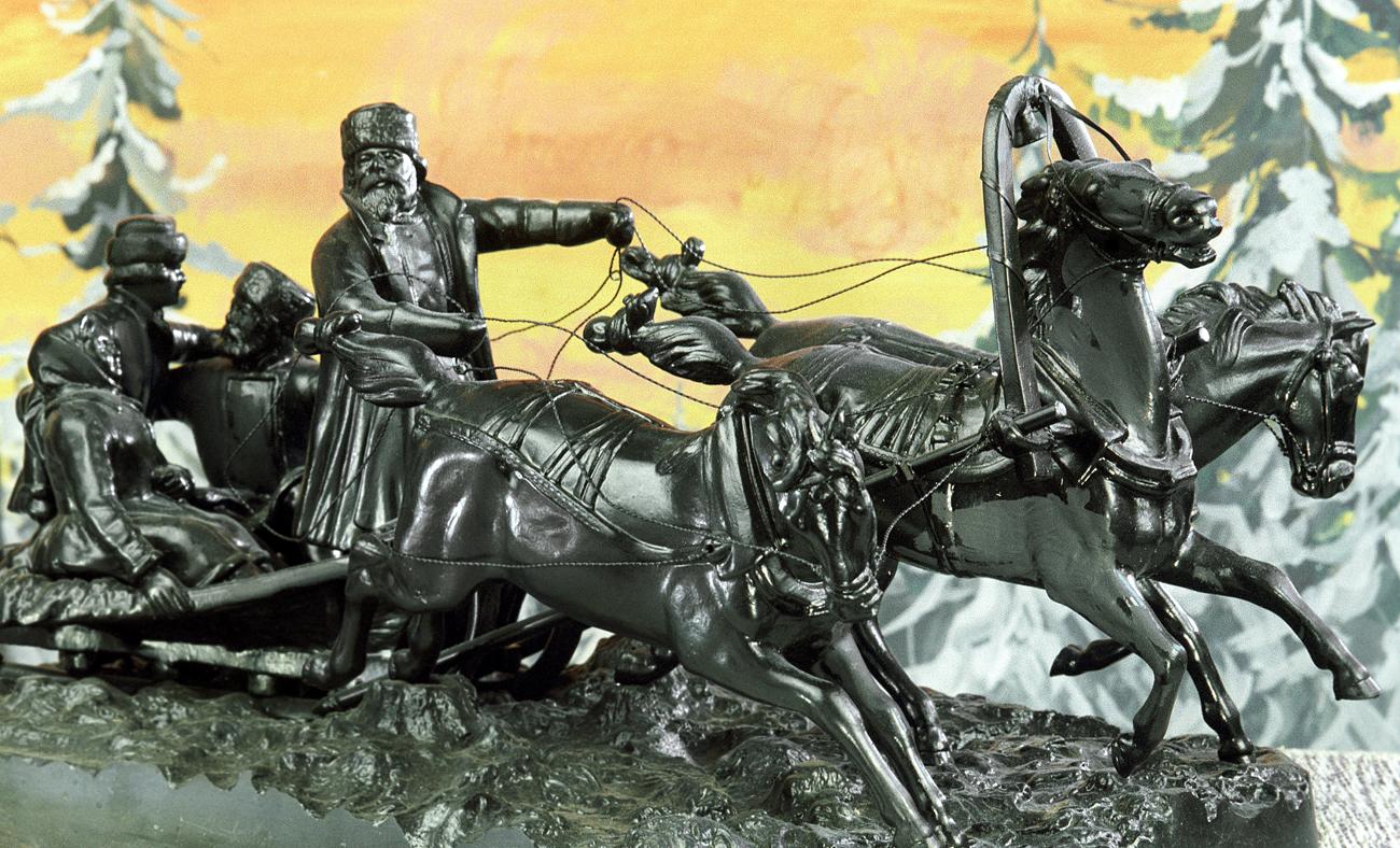 Sculpture concue par Y.Nans. Crédit : Knyajinskiy L. /RIA Novosti