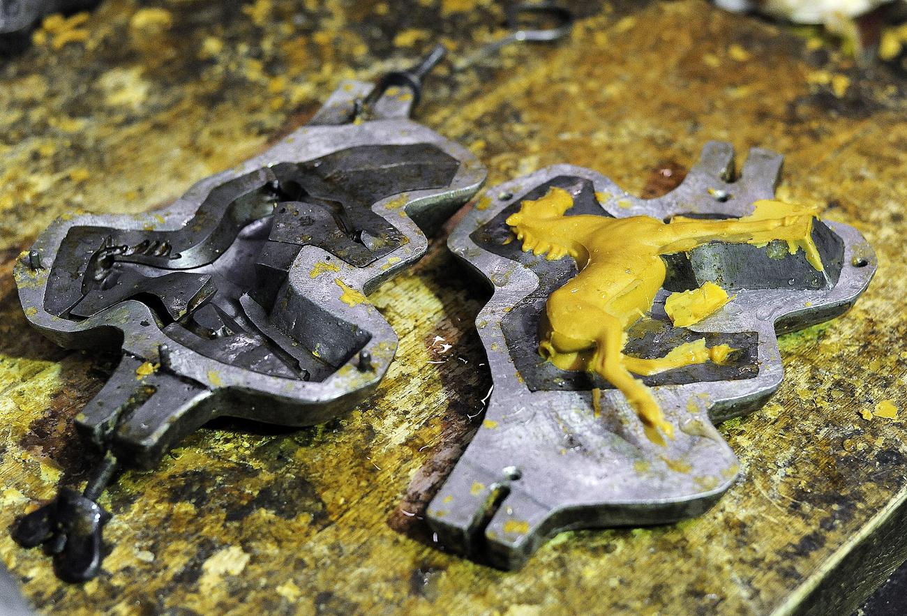 Moules en cire pour la fabrication de sculptures. Crédit : Aleksandr Kondratuk / RIA Novosti