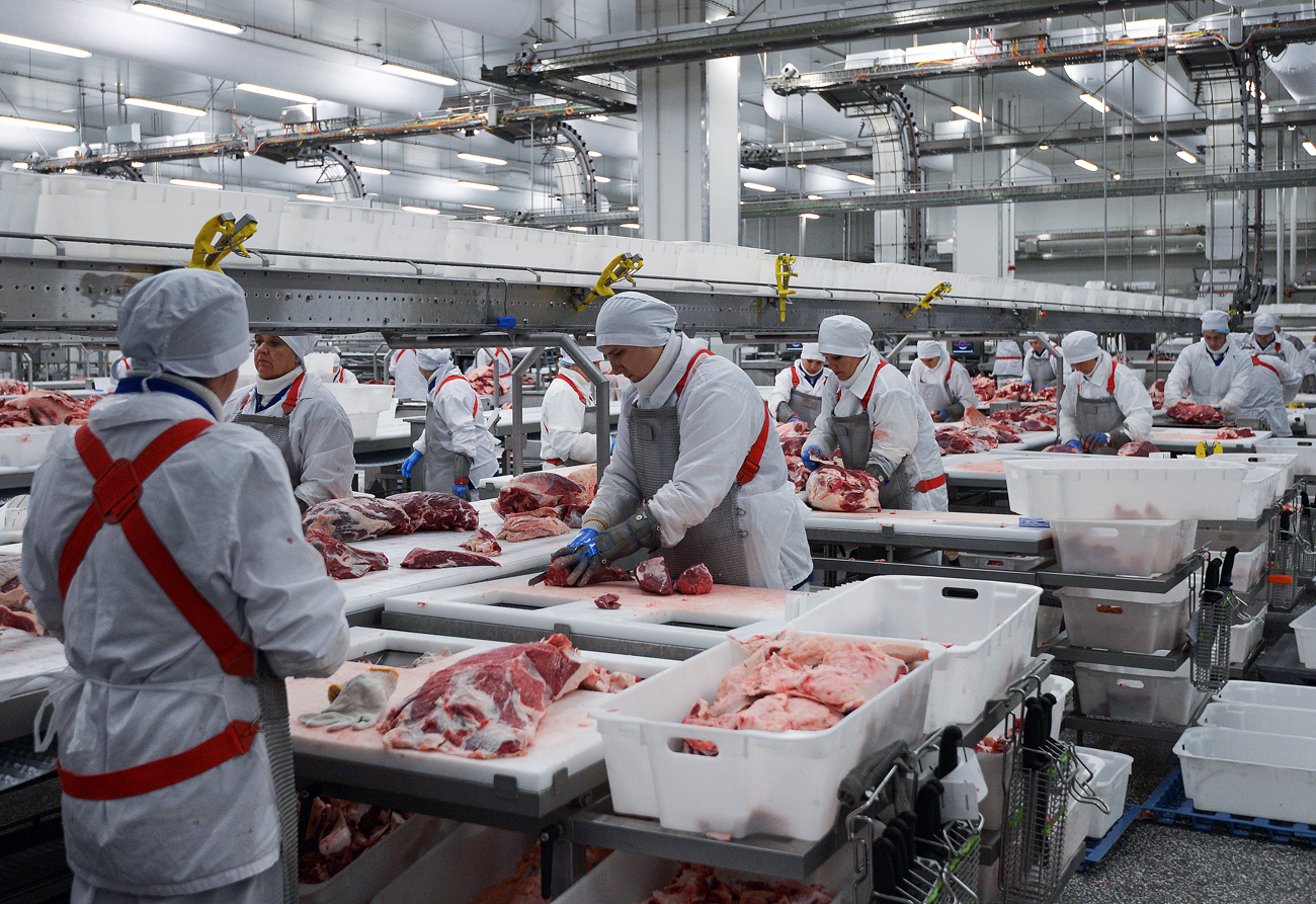 A meat processing facility in Russia.
