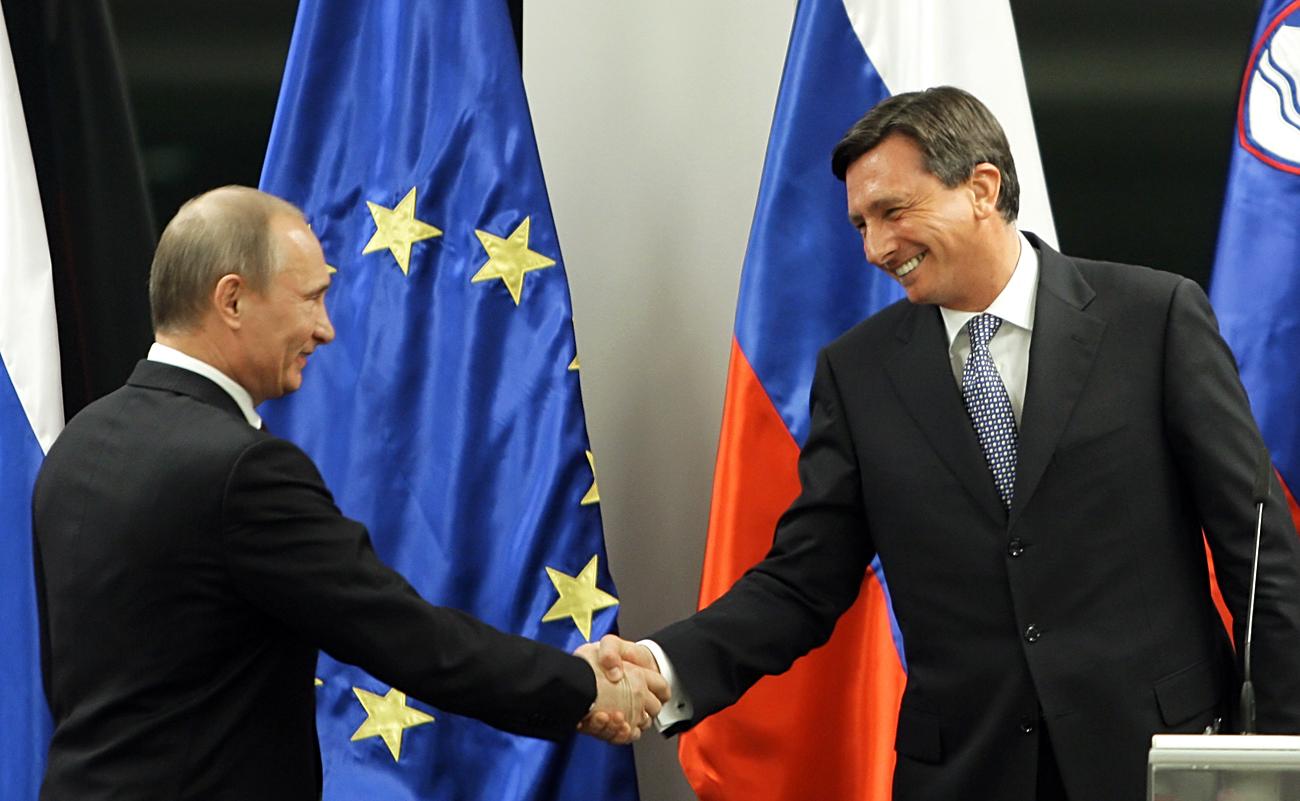 Putin in Pahor na Brdu pri Kranju, 22. marec 2010.