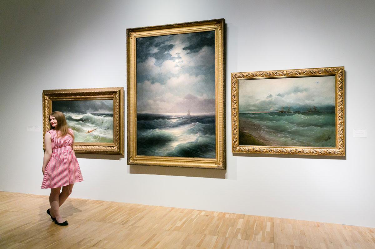 Aivazovsky exhibition at Tretyakov Gallery.