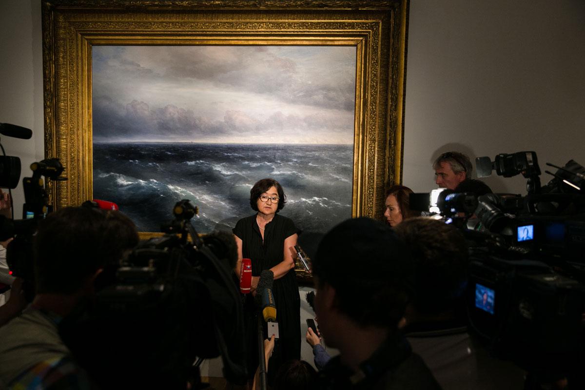 Zelfura Tregulova opens Aivazovsky exhibition at Tretyakov gallery