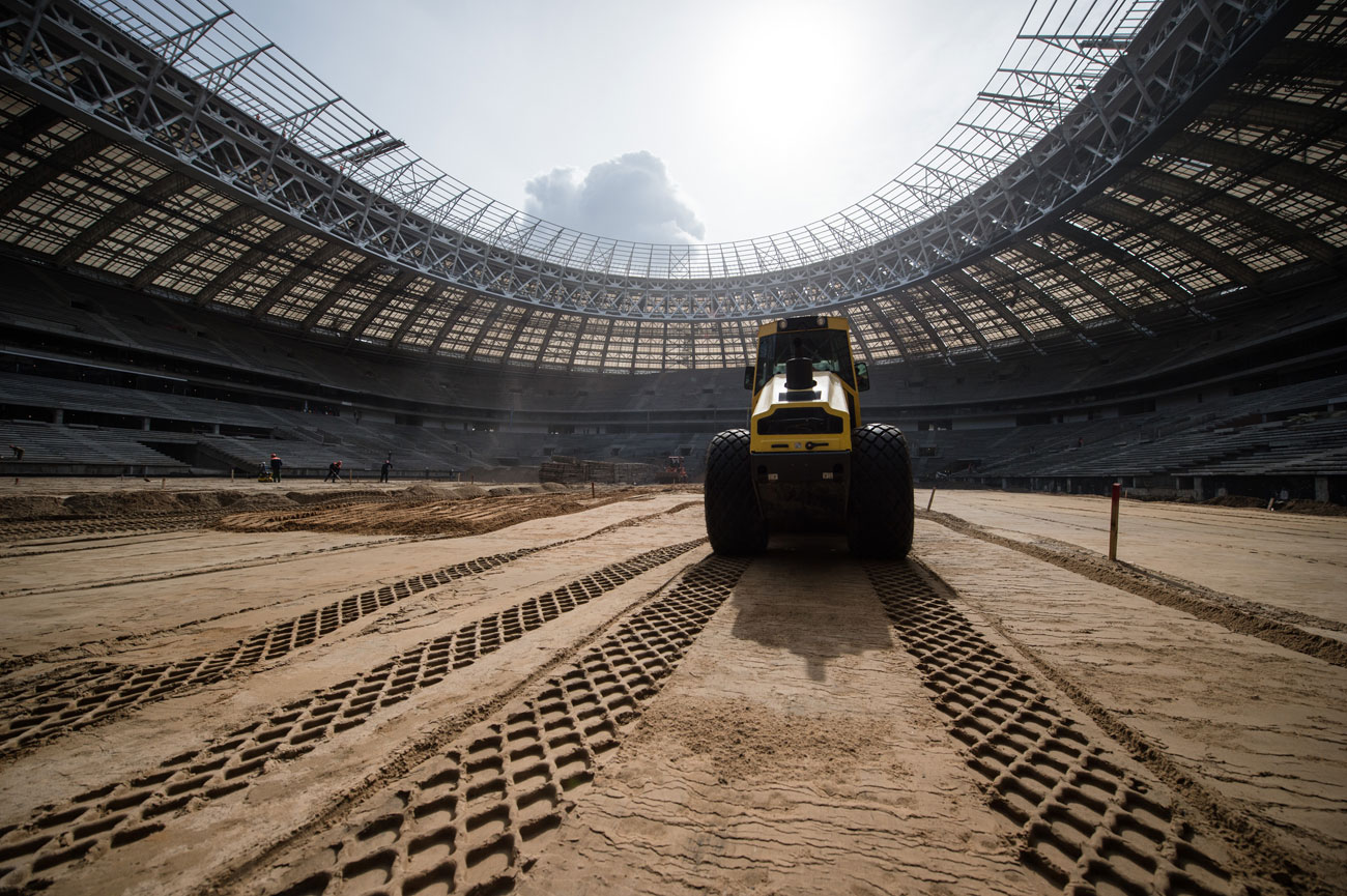The stadium is currently undergoing a facelift to rise like a phoenix for the 2018 FIFA World Cup opening match and final.